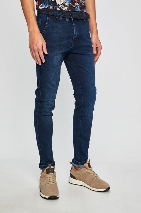 Jeansy męskie chinosy niebieskie