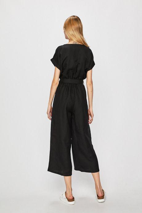 Kombinezon damski wiązany w tali czarny
