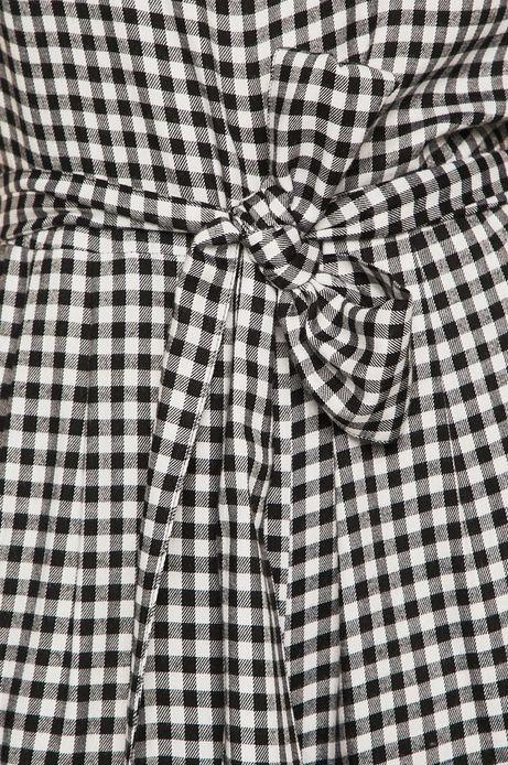 Kombinezon damski wiązany w talii w kratkę