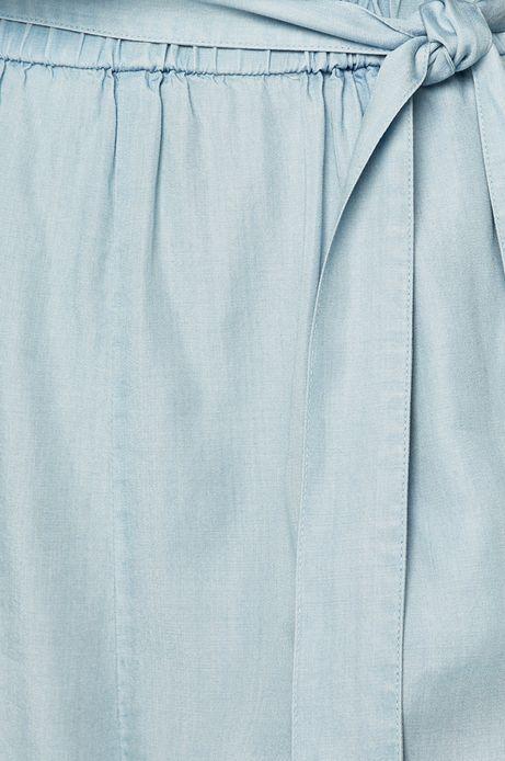 Kombinezon damski z dekoltem typu łódka niebieski