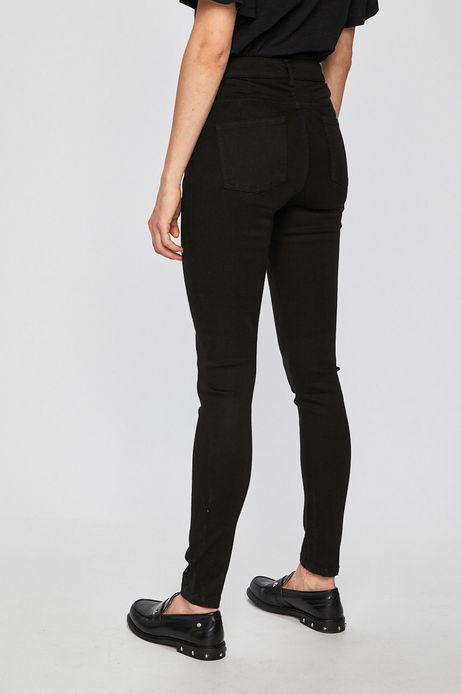Spodnie damskie gładkie czarne