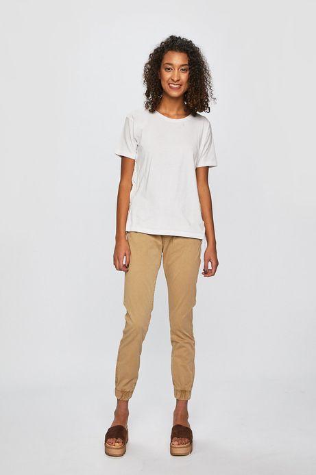 Spodnie damskie joggery beżowe