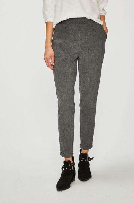 Spodnie damskie z lamówką szare
