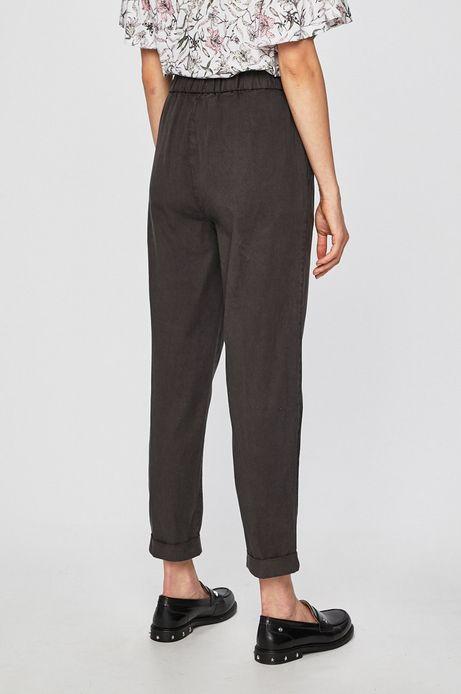 Spodnie damskie wiązane w pasie czarne