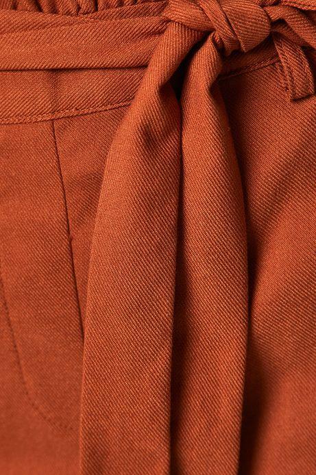 Spodnie damskie ze zwężaną nogawką pomarańczowe