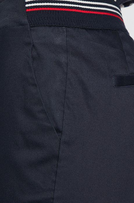 Spodnie damskie ze zwężaną nogawką granatowe