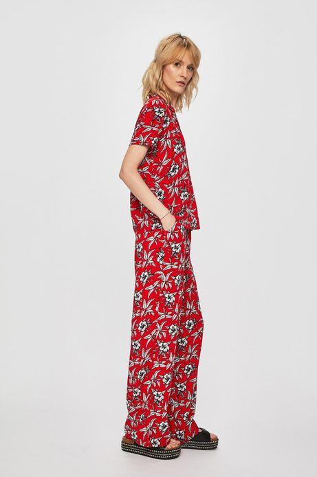 Spodnie damskie z szerokimi nogawkami czerwone