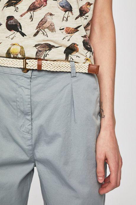 Spodnie damskie ze zwężaną nogawką niebieskie