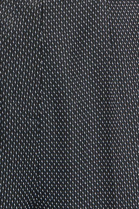 Spodnie damskie czarne wzorzyste ze zwężaną nogawką