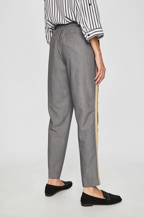 Spodnie damskie z lampasami szare