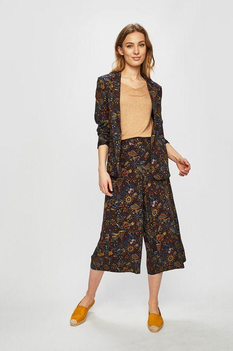 Spodnie damskie z szerokimi nogawkami wzorzyste