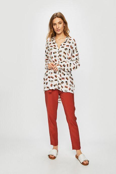 Spodnie damskie ze zwężaną nogawką czerwone