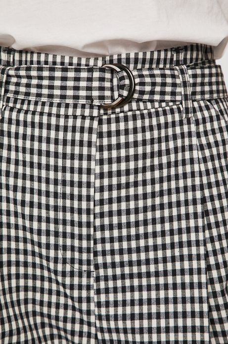 Spodnie damskie w kratkę