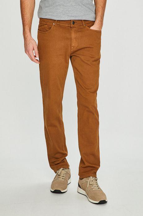 Spodnie męskie regular brązowe
