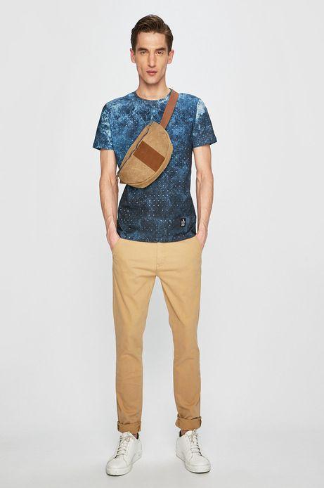Spodnie męskie slim fit beżowe