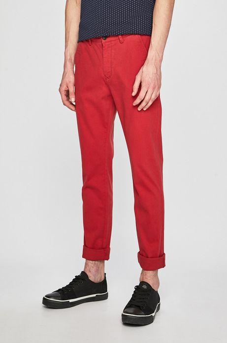 Spodnie męskie slim fit czerwone