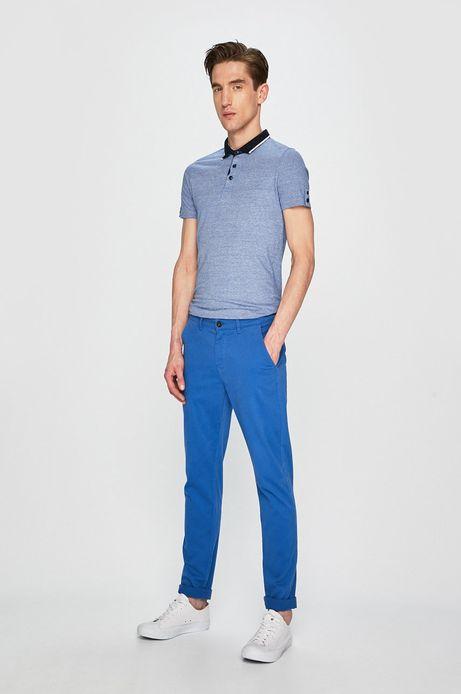 Spodnie męskie slim fit niebieskie