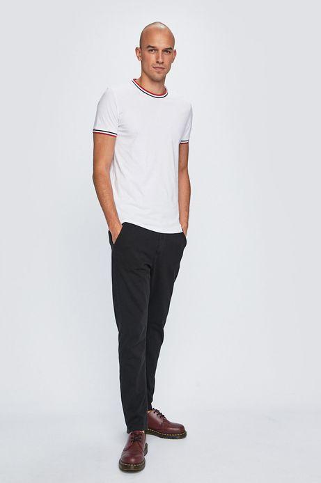 Spodnie męskie ze zwężaną nogawką czarne