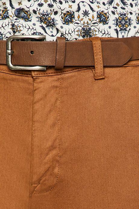 Spodnie męskie slim brązowe
