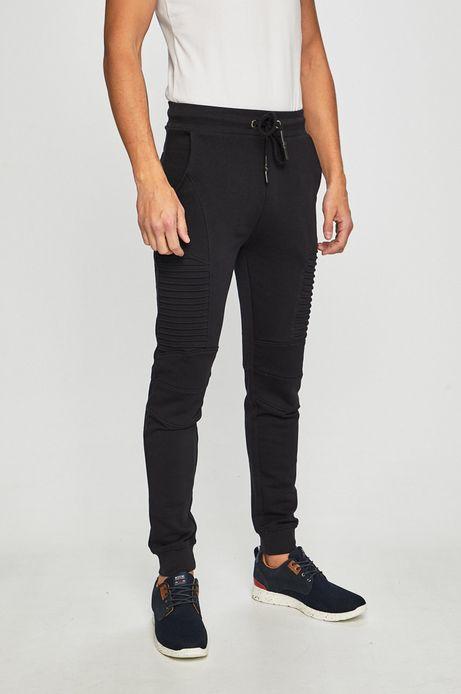 Spodnie męskie z przeszyciami czarne