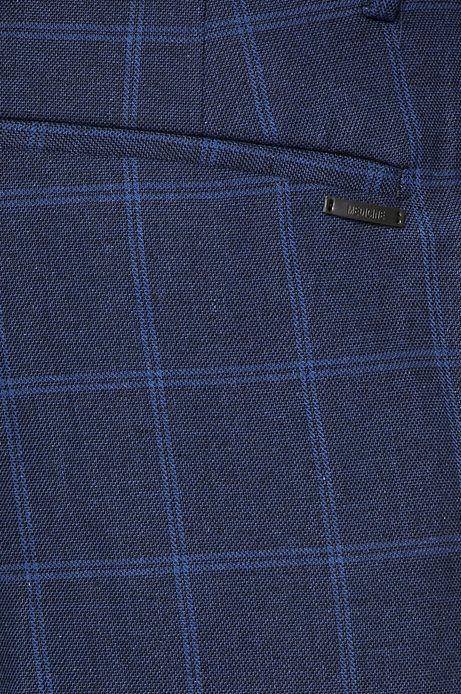 Spodnie męskie z domieszką lnu granatwe