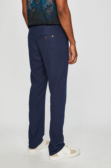 Spodnie męskie lniane chinosy granatowe