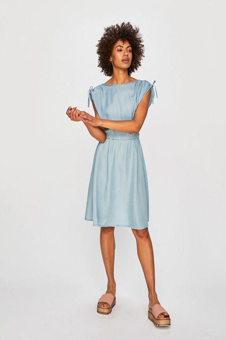 Sukienka damska rozkloszowana niebieska