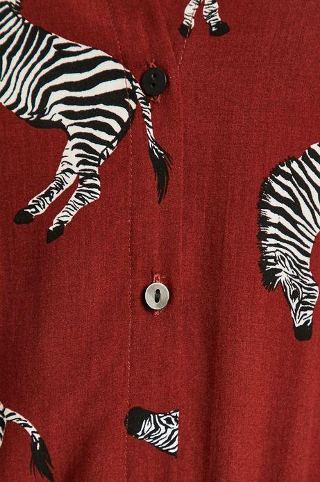 Sukienka damska w zebry brązowa