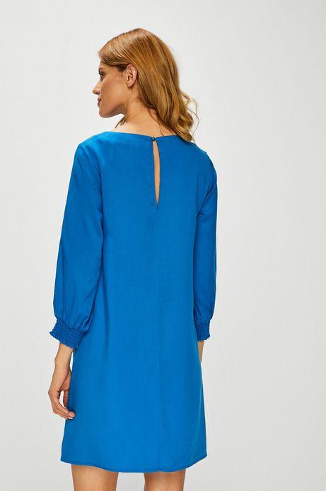 Sukienka damska z rękawem 3/4 niebieska