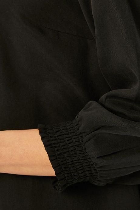 Sukienka damska z rękawem 3/4 czarna