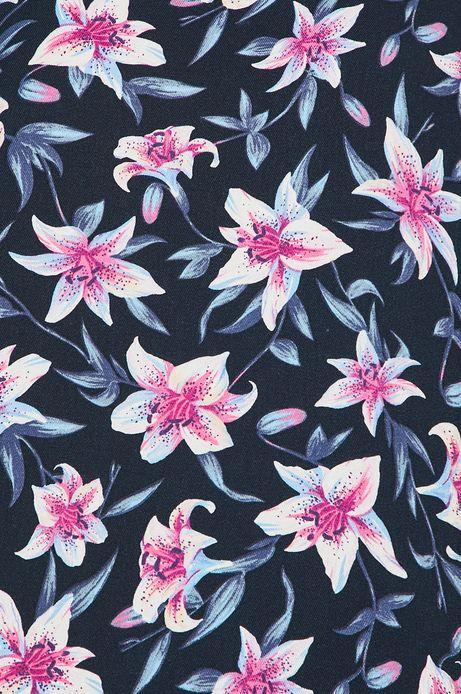 Sukienka damska w kwiaty niebieska