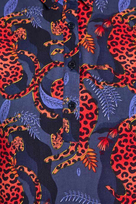 Sukienka damska by Anna Rudak wzorzysta granatowa