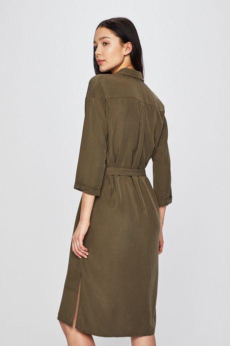 Sukienka damska wiązana w pasie zielona