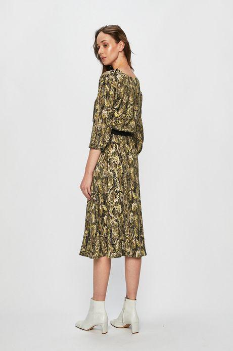 Sukienka damska rozkloszowana zielona