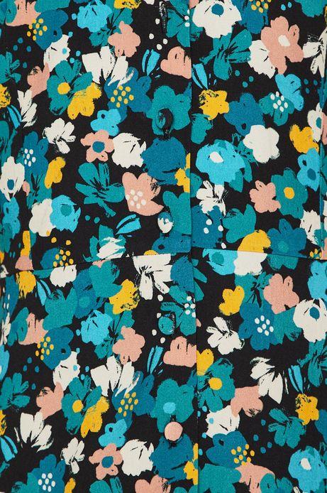 Sukienka zapinana na guziki damska w kwiaty