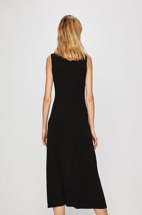 Sukienka damska zapinana na guziki czarna