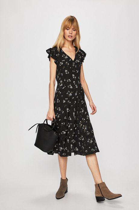 Sukienka damska wzorzysta czarna
