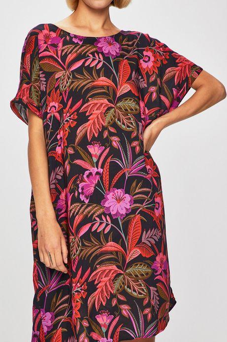 Sukienka damska z wzorzystej tkaniny