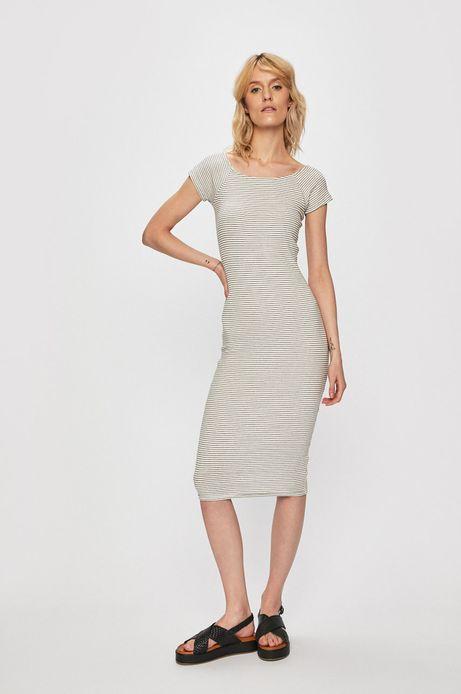 Sukienka damska dopasowana w paski