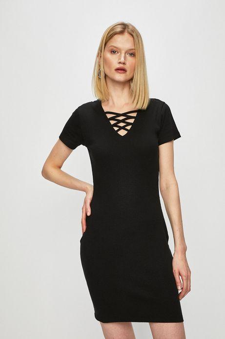 Sukienka damska dopasowana czarna