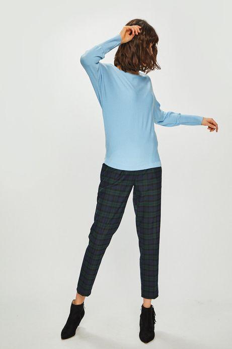 Sweter damski z okrągłym dekoltem niebieski