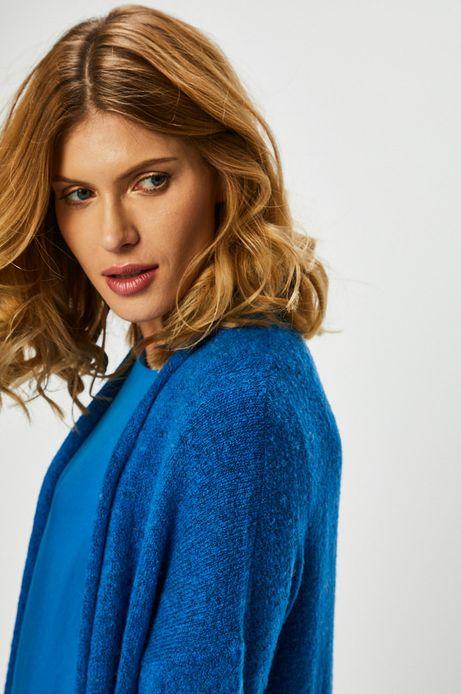 Kardigan damski niebieski