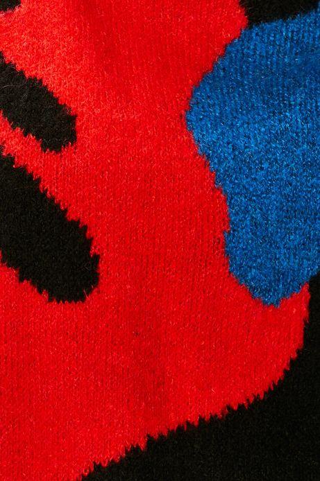 Sweter damski wzorzysty czarny
