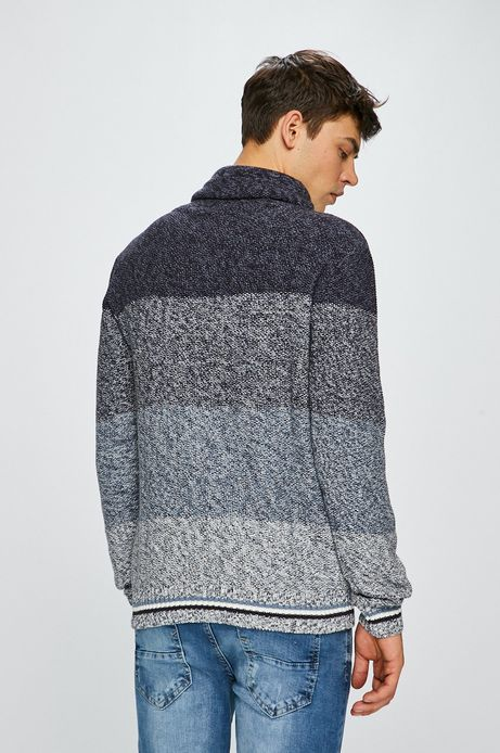 Sweter męski z golfem granatowy
