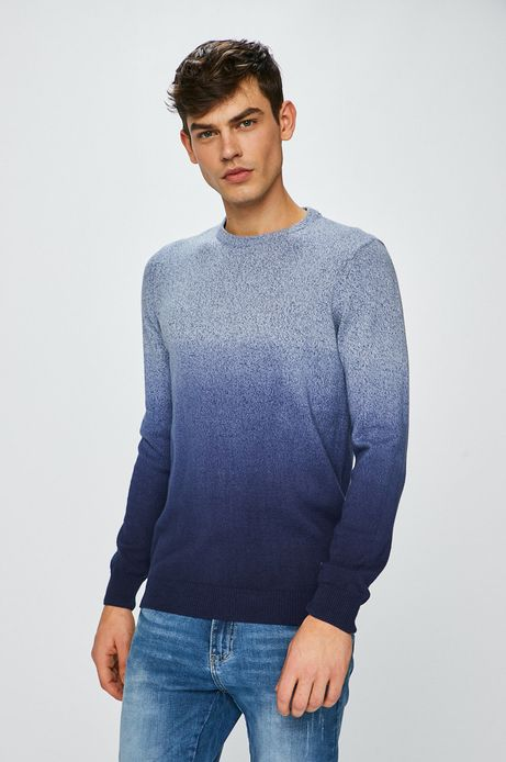 Sweter męski cieniowany niebieski