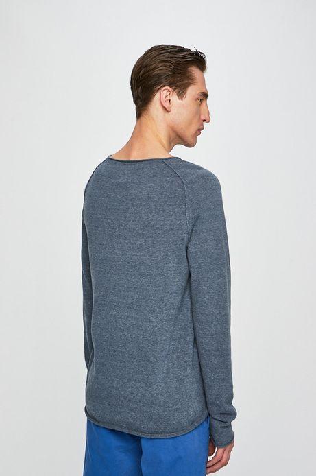 Sweter męski z okrągłym dekoltem granatowy