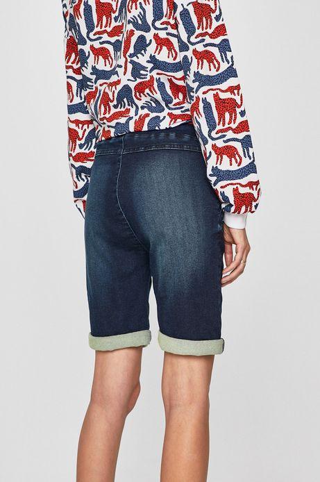 Szorty damskie jeansowe ściągane troczkami