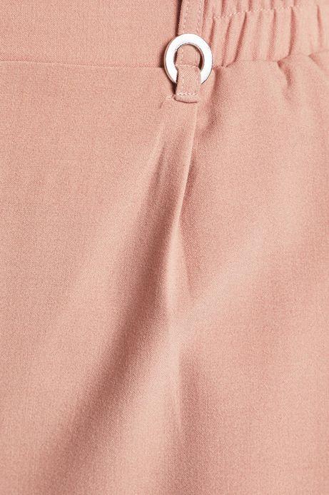Szorty damskie z podwyższonym stanem różowe