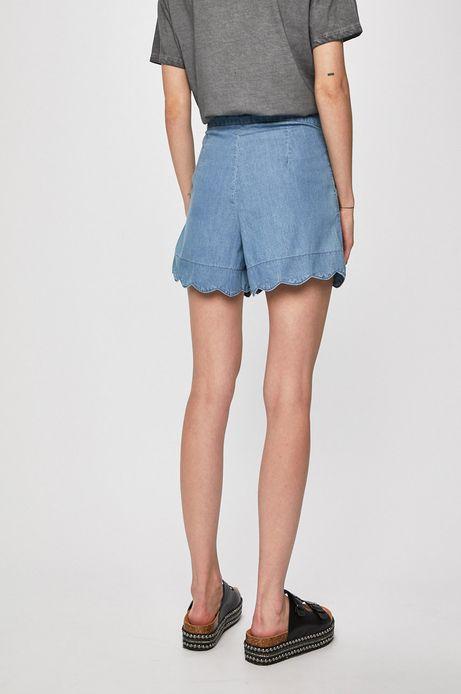 Szorty damskie z rozszerzanymi nogawkami niebieskie