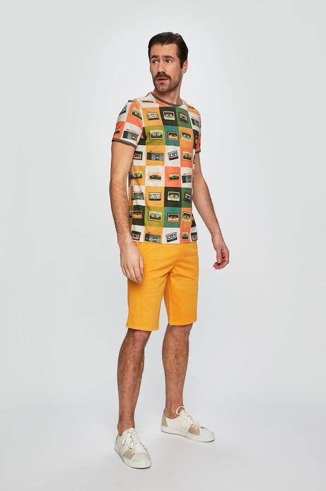 Szorty męskie regular  żółte